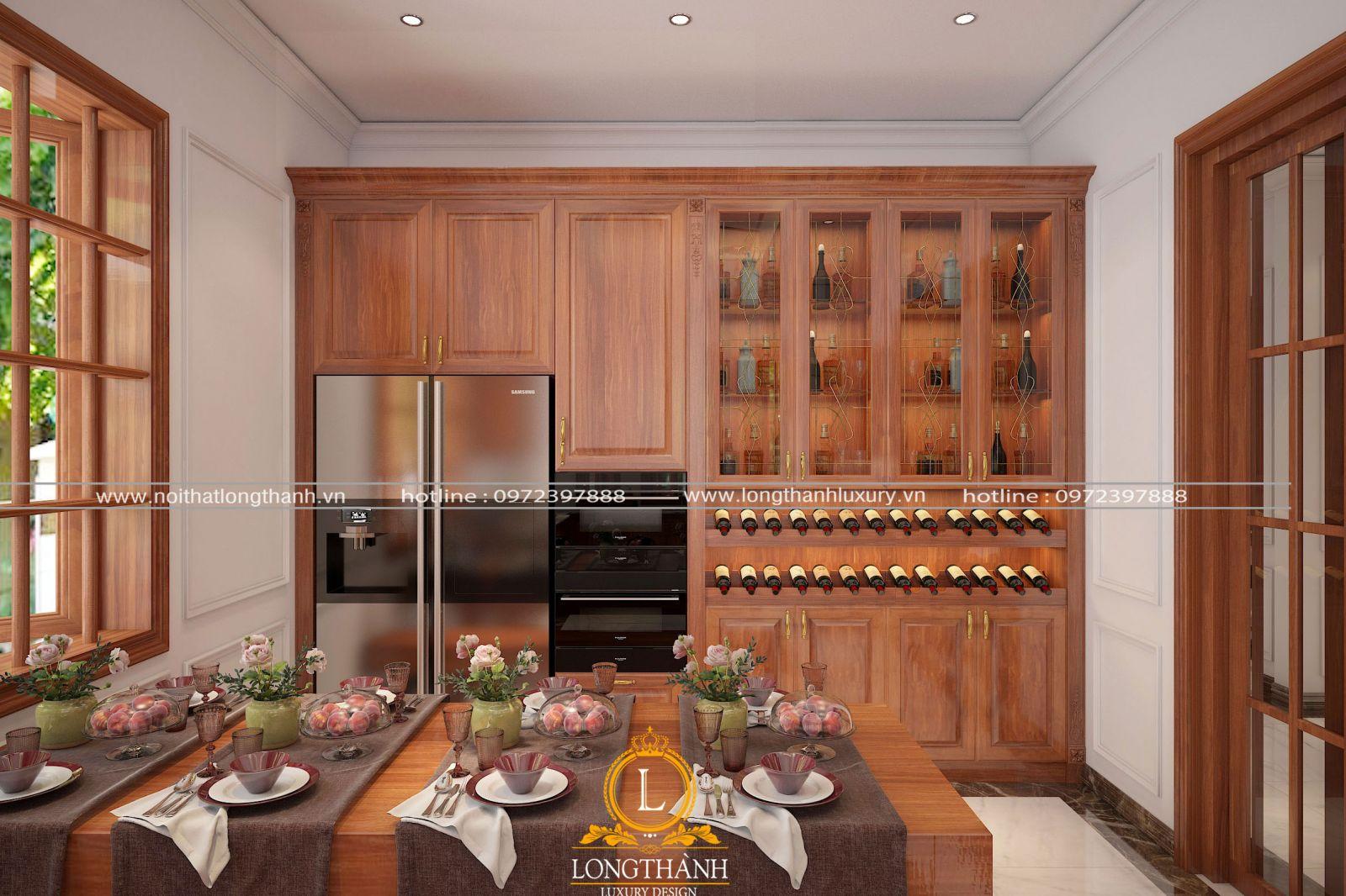Màu tủ rượu phù hợp nội thất