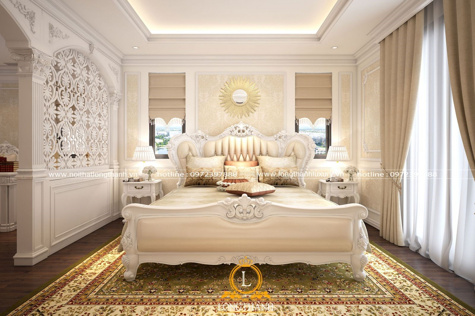 Mềm mại, quyến rũ cùng phòng ngủ tân cổ điển biệt thự