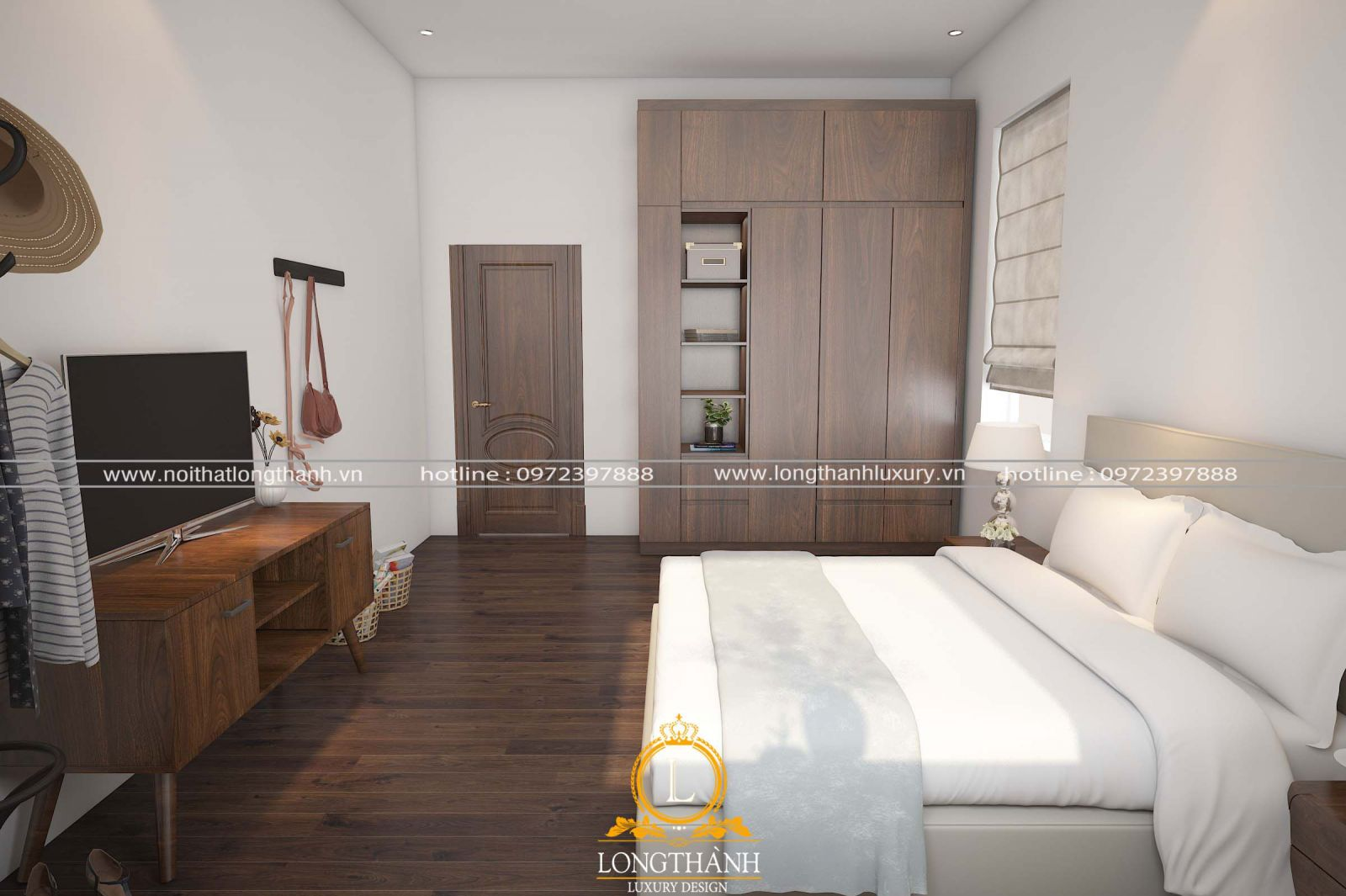 Một góc nhìn của căn phòng ngủ hiện đại