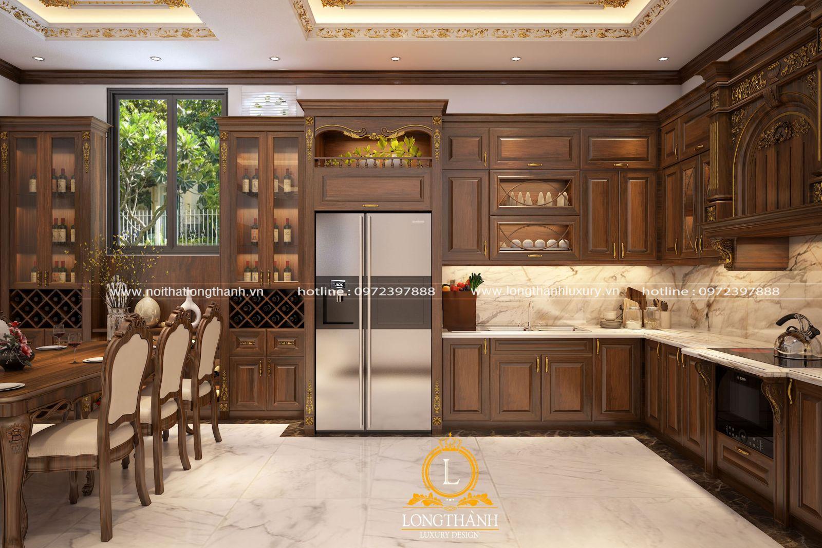 Phòng bếp được bố trí hợp lý và tiện lợi