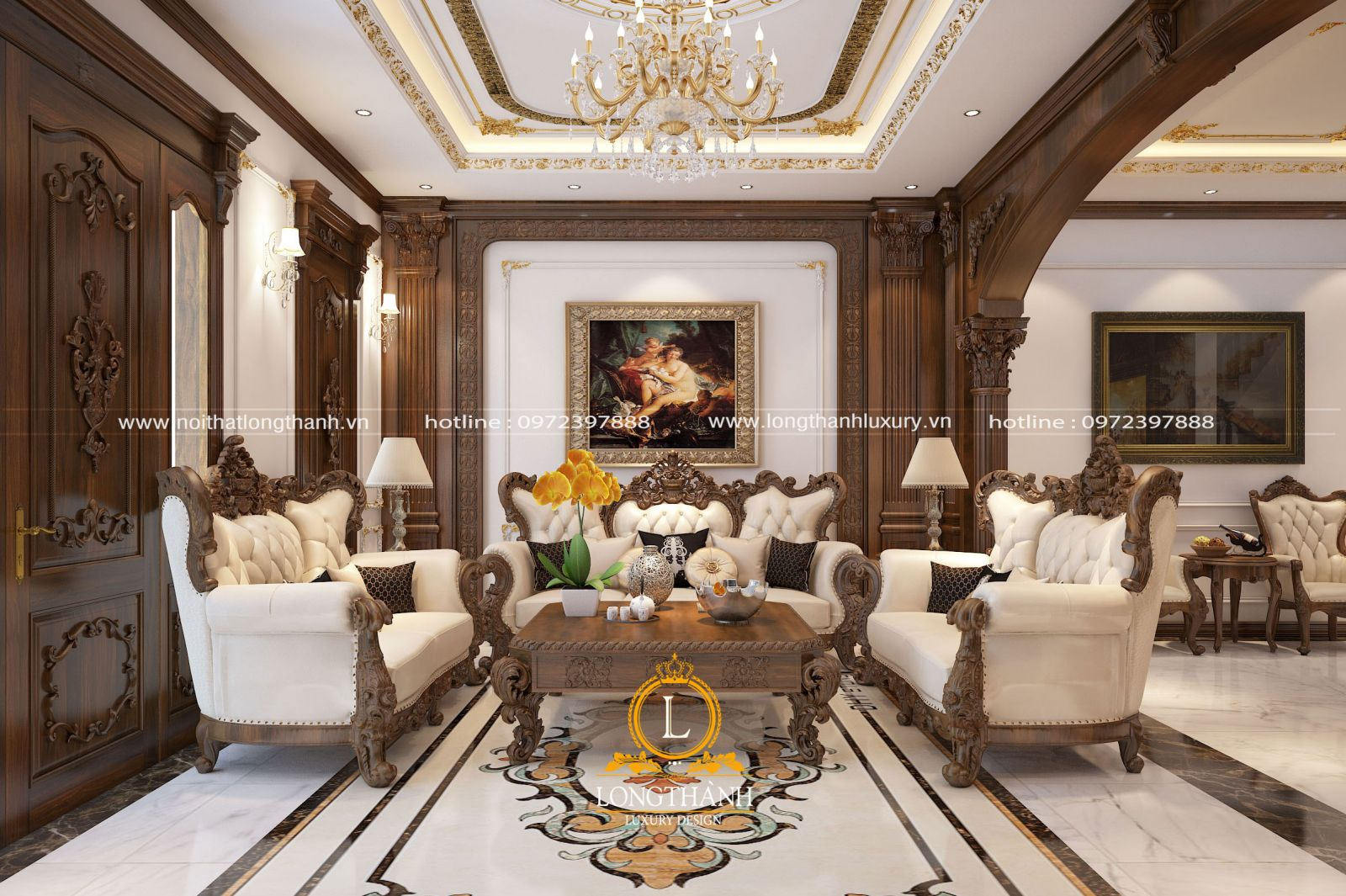 Sofa tân cổ điển cao cấp dễ dàng kết hợp với những đồ nội thất khác