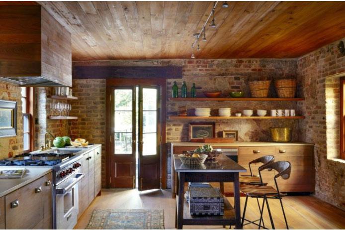 Nhà bếp đẹp phong cách rustic