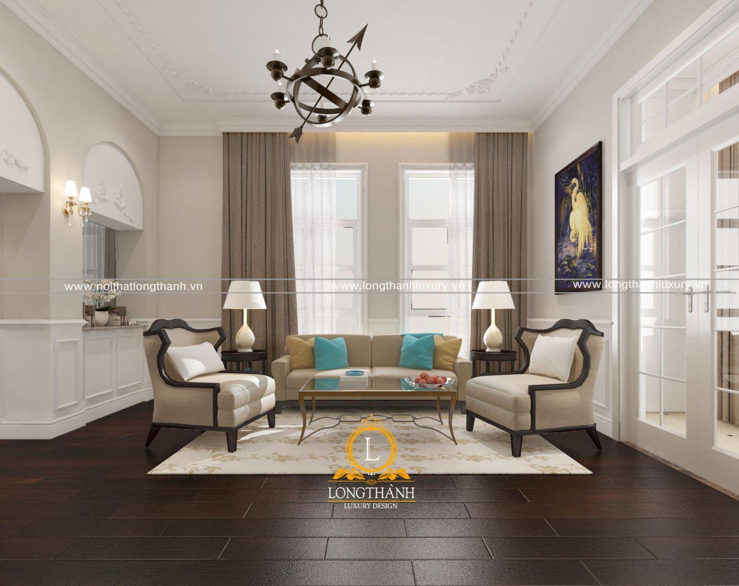 Mẫu sofa nỉ đẹp được kết hợp màu sắc đẹp và ấn tượng