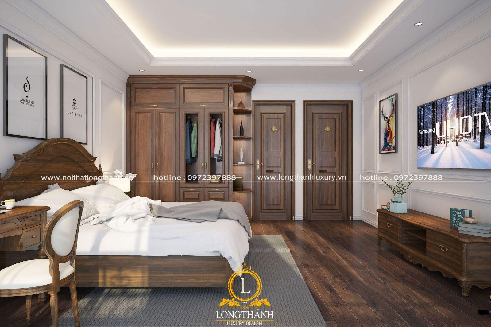 Nội thất phòng ngủ được thiết kế ngăn nắp