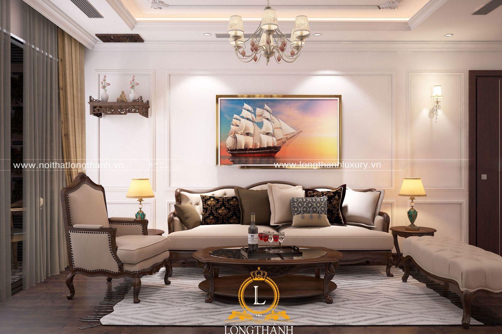 Phong cách tân cổ điển cho phòng khách nhỏ
