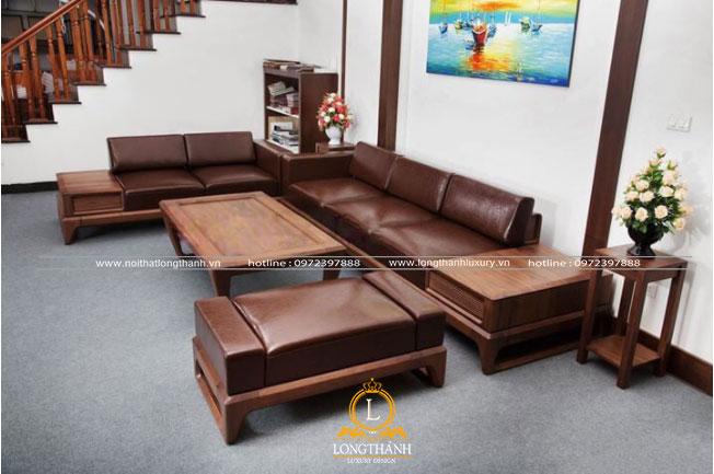 Sofa gỗ hiện đại dành cho không gian phòng khách diện tích nhỏ
