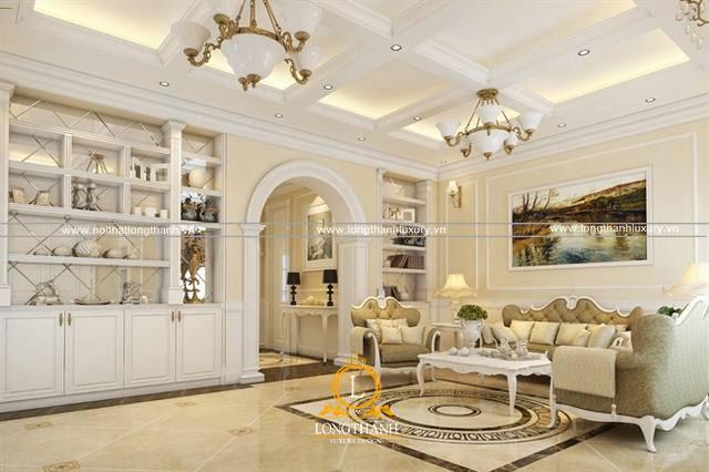 Phòng khách dành cho chung cư nhỏ được bố trí tiện nghi