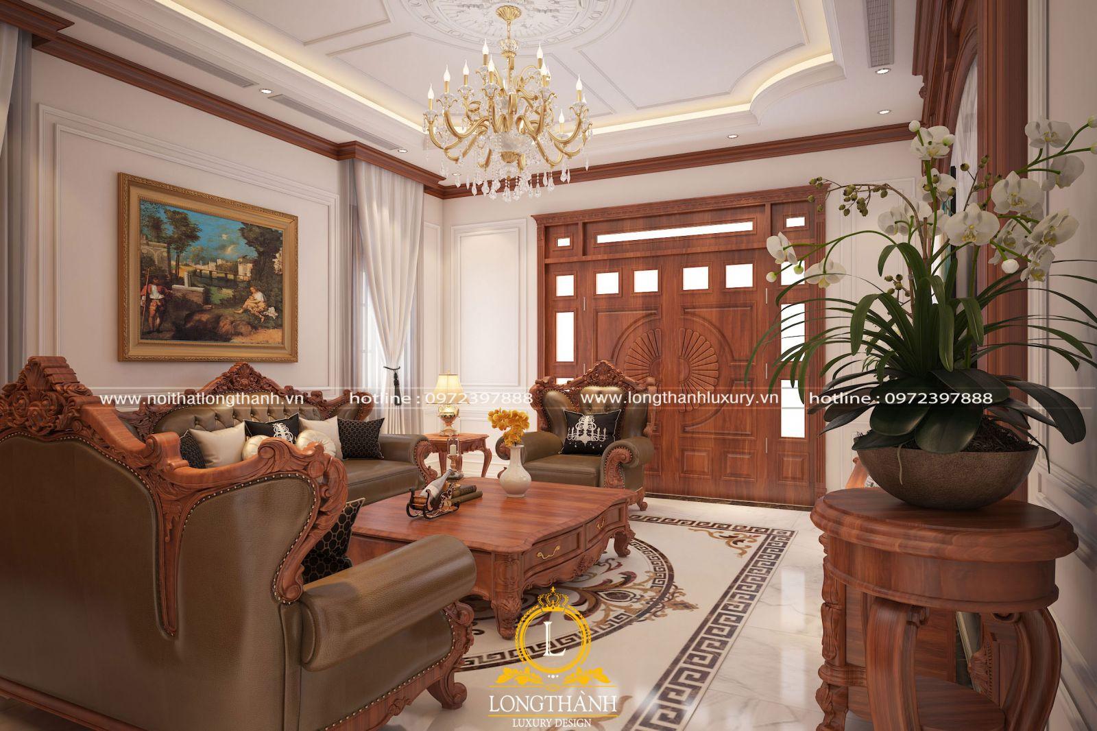 Phòng khách đẹp sang trọng độc đáo