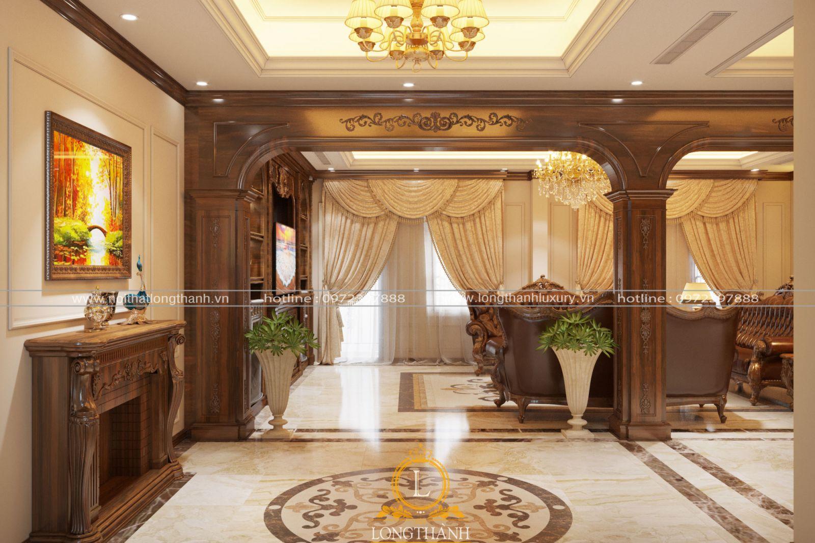 Phòng khách đẹp sang trọng và lộng lẫy