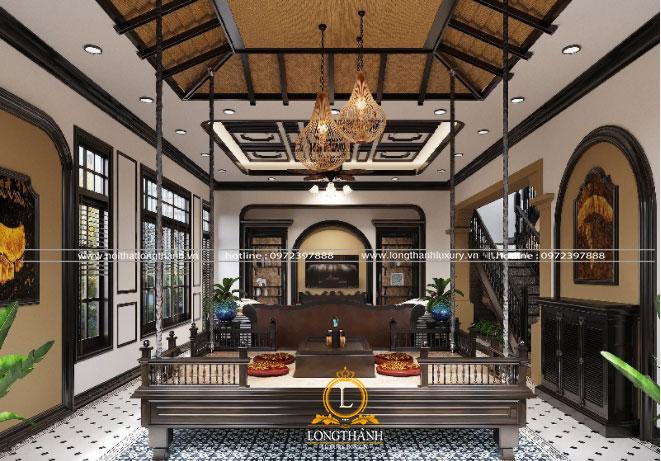 Phòng khách đẹp với đồ nội thất cao cấp