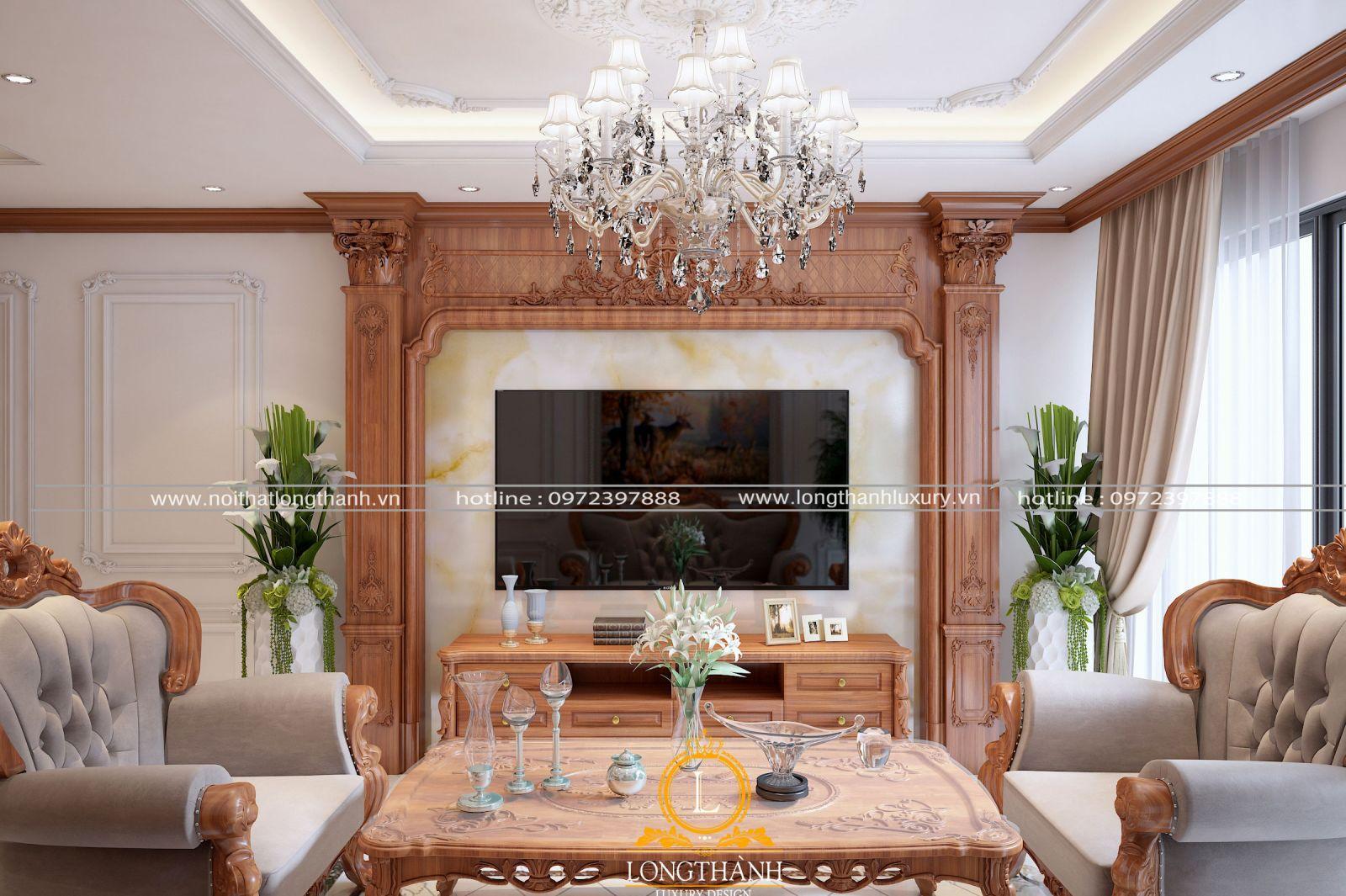 Cây xanh được bố trí giúp cho phòng khách thêm sinh động hơn