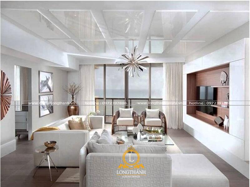 Phòng khách hiện đại đẹp cho căn hộ chung cư
