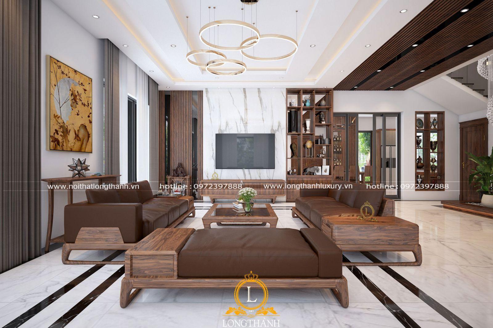 Nội thất sofa phòng khách hiện đại sang trọng cho biệt thự cao cấp