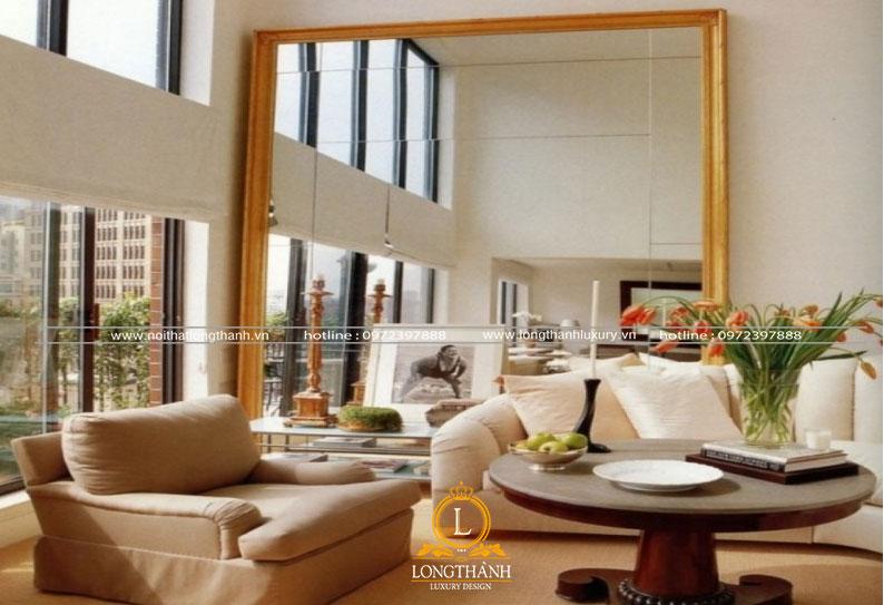 Phòng khách hiện đại đẹp nhẹ nhàng tinh tế