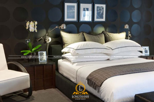 Phòng khách hiện đại kết hợp gam màu trắng sáng