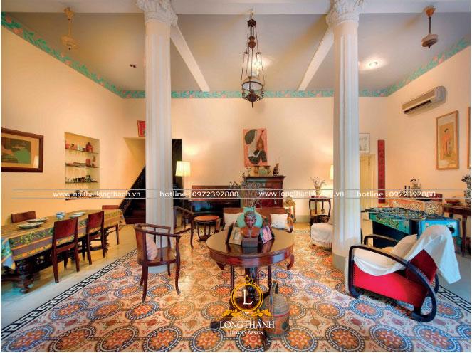 Phòng khách indochine đẹp tinh tế