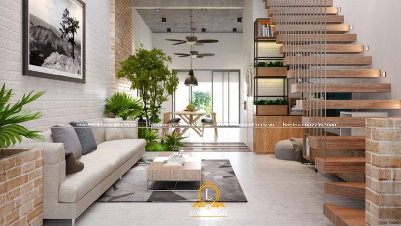 Sử dụng cây xanh trong trang trí nội thất nhà phố