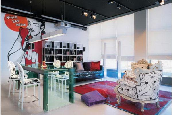 Phòng khách nội thất đẹp với hình khôí