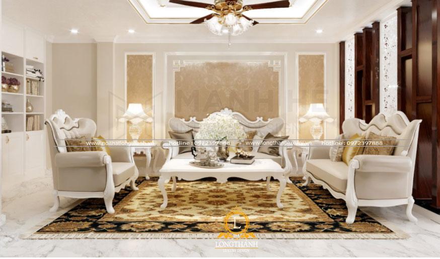 Phòng khách tân cổ điển sang trọng và ấm cúng