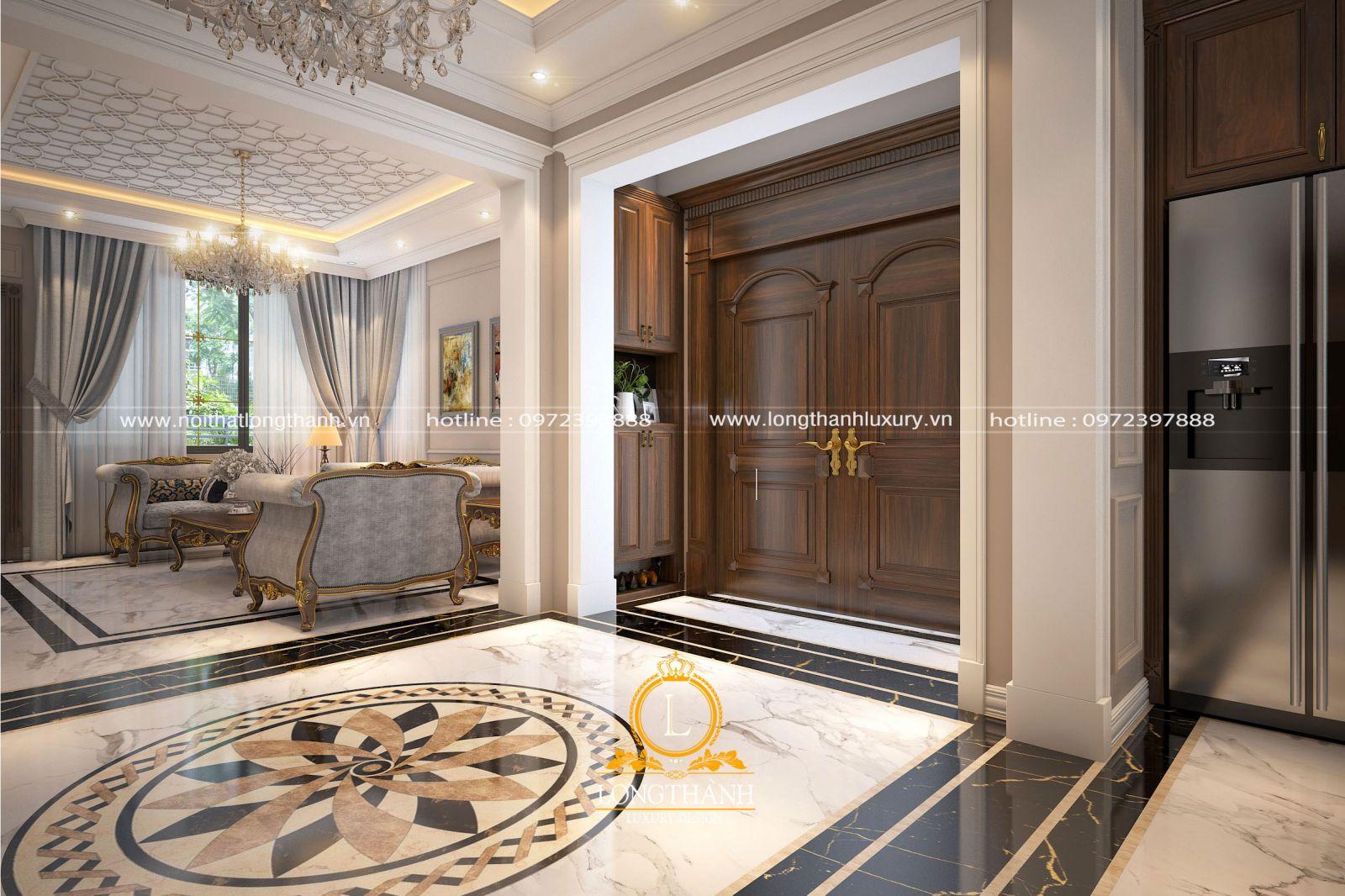 Phòng khách với hệ trần trang trí đẹp