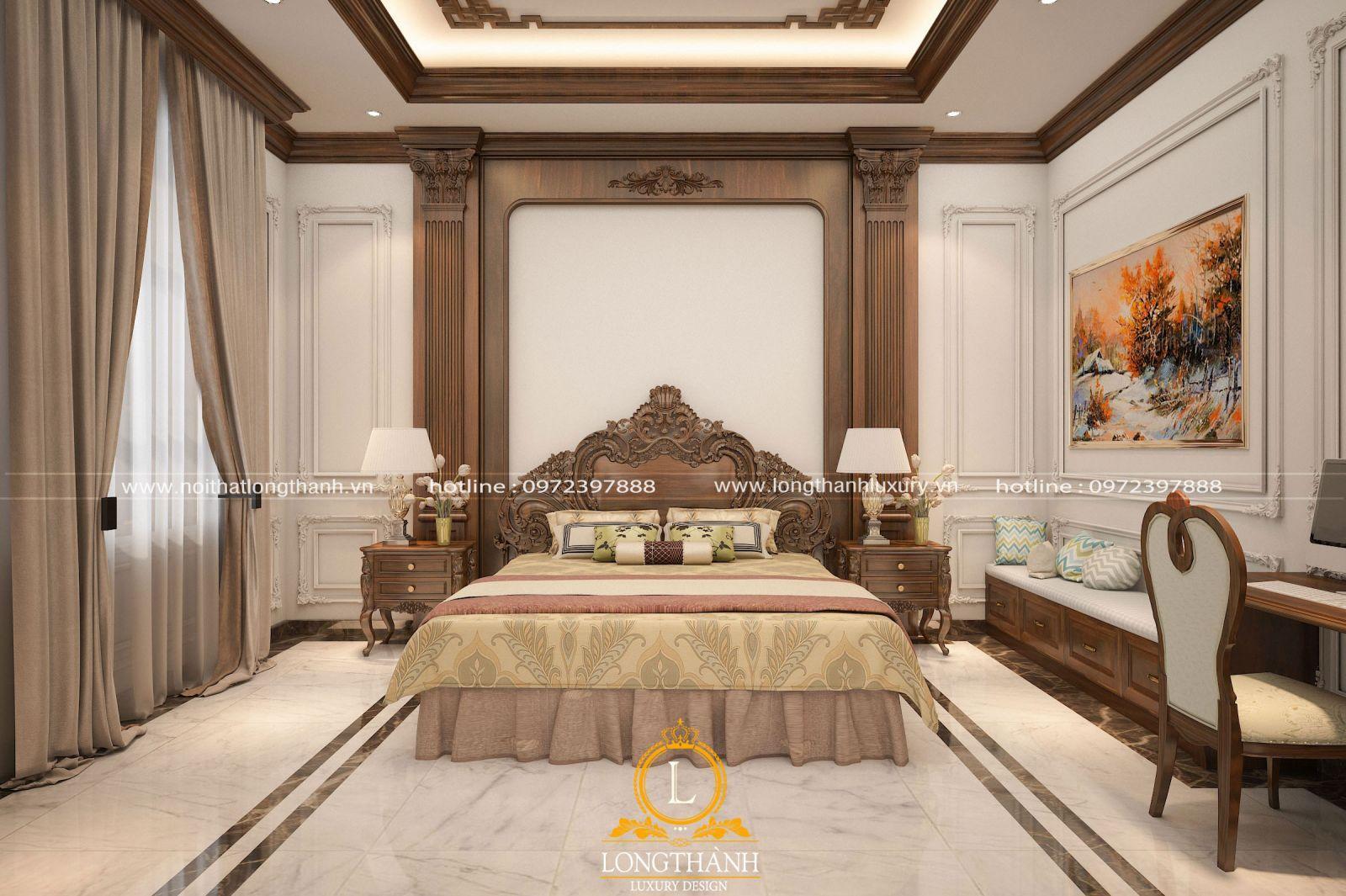 Căn phòng ngủ được thiết kế nhẹ nhàng mà tinh tế