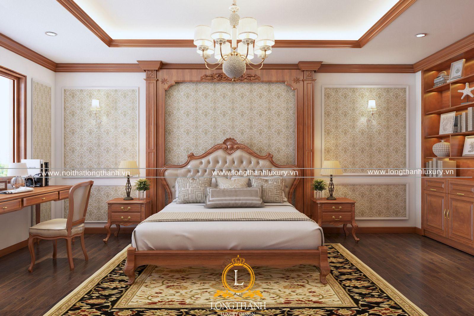 Thiết kế phòng ngủ master tân cổ điển hiện đại