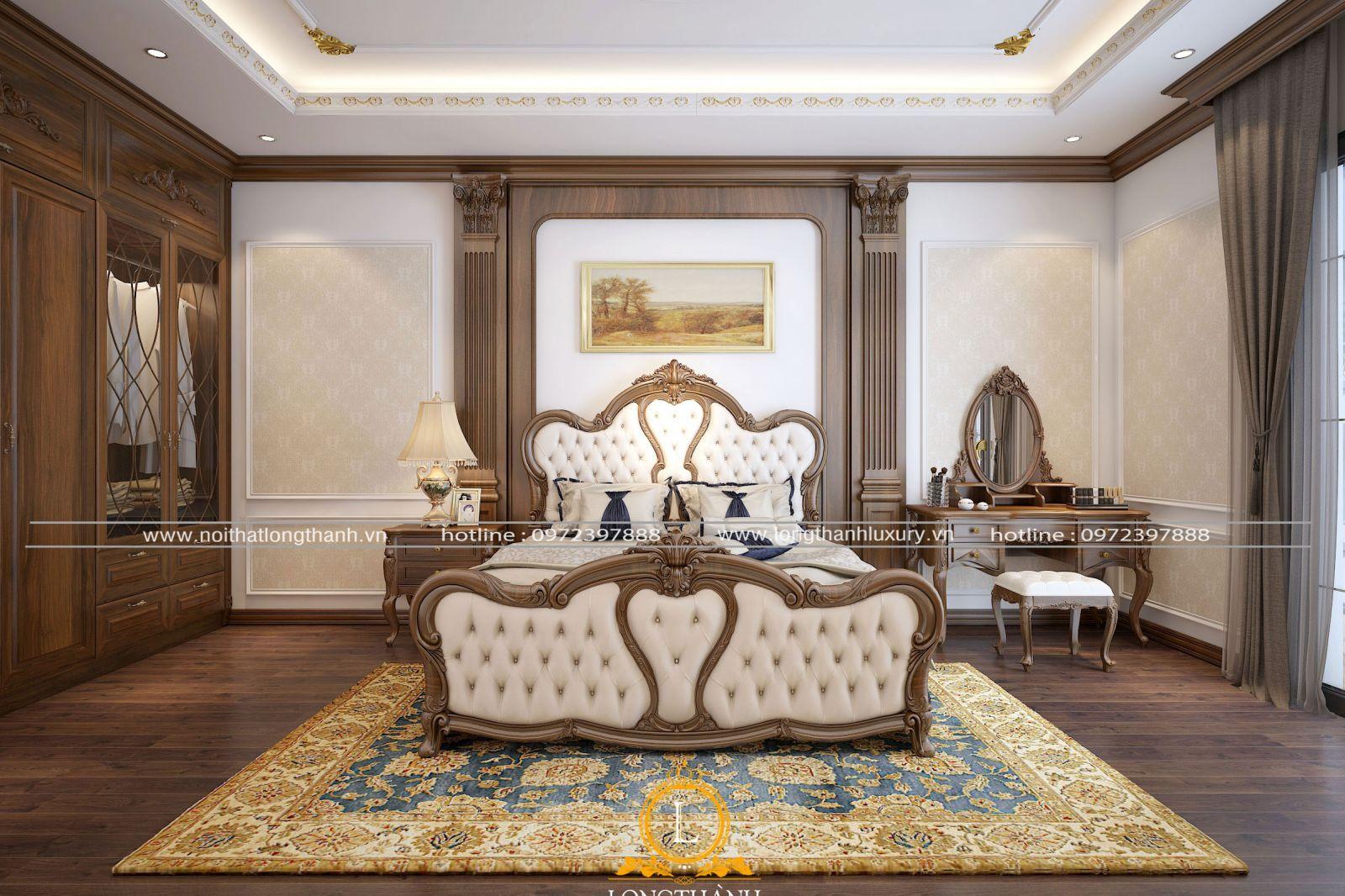 Phòng ngủ cao cấp gỗ Gõ