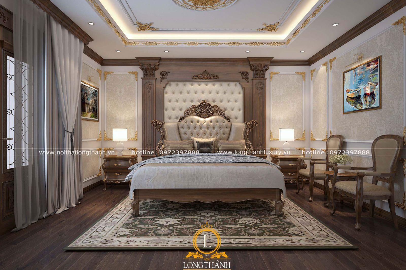 Phòng ngủ cao cấp màu tinh tế