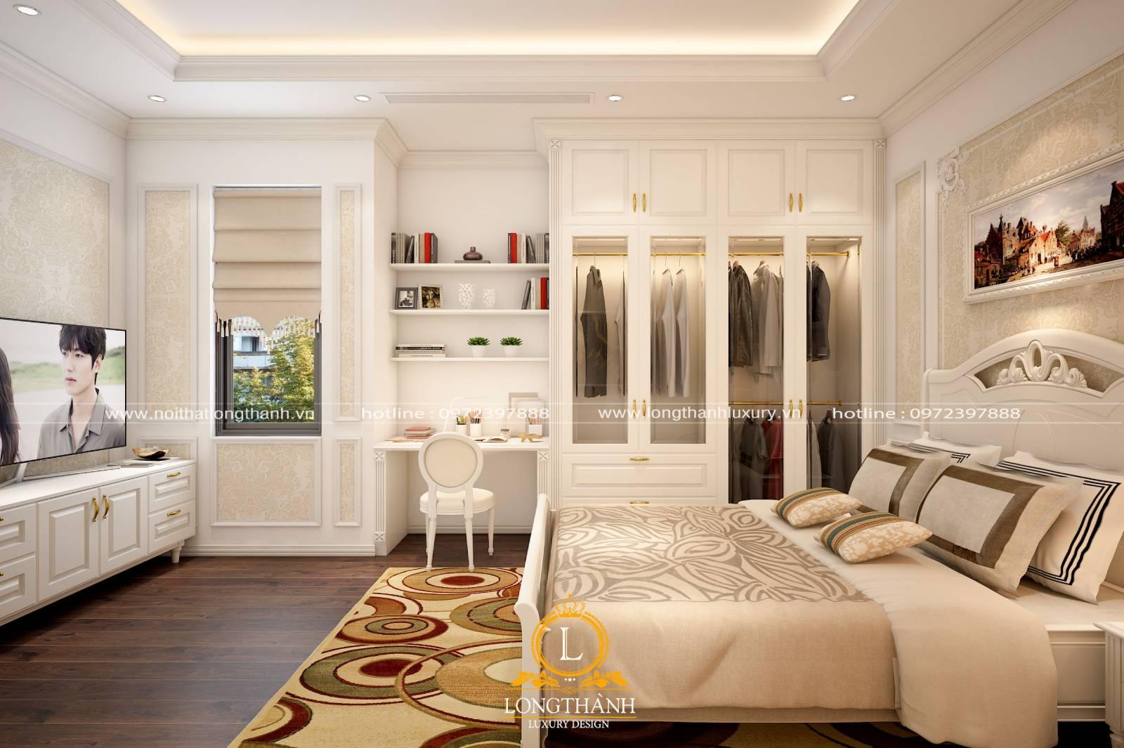 Phòng ngủ cao cấp tân cổ điển mang thiên hướng hiện đại