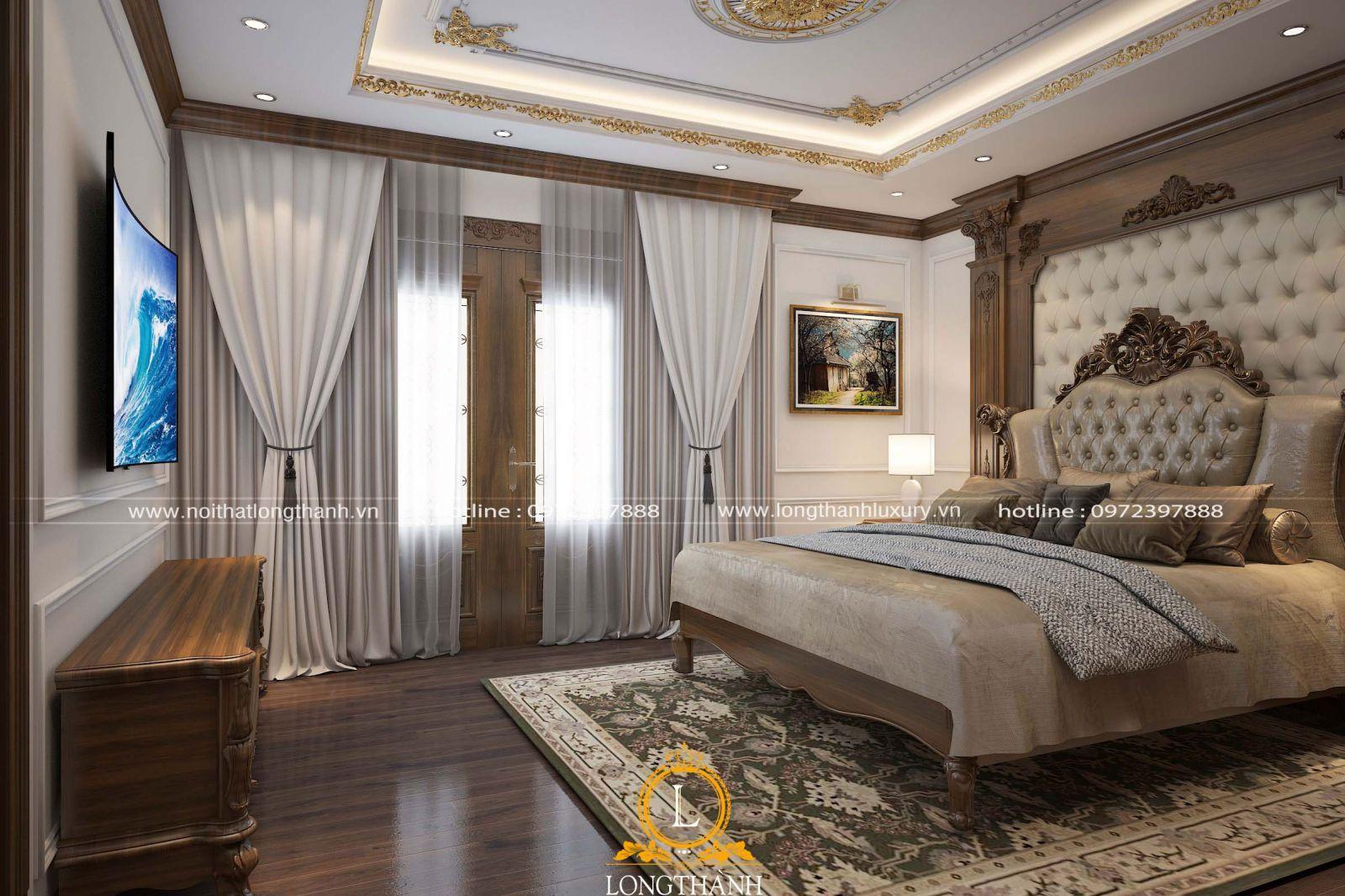 Phòng ngủ cao cấp từ gỗ Óc Chó