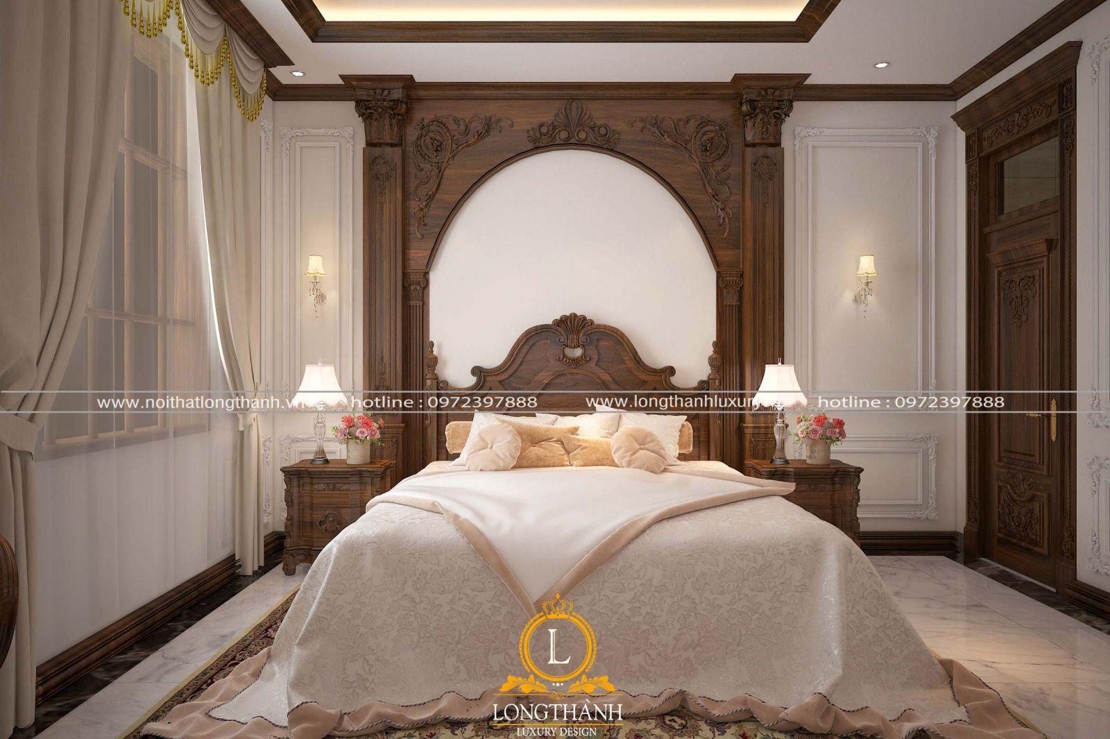 Phòng ngủ cho bé gái theo phong cách tân cổ điển