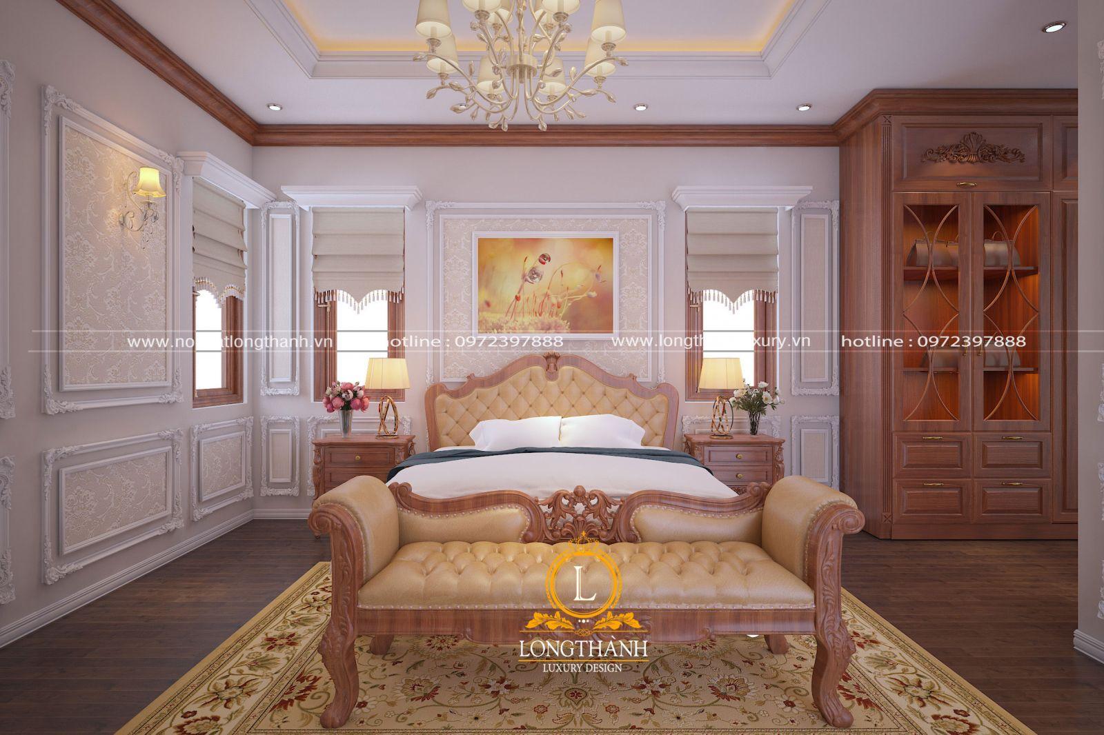Phòng ngủ đẹp được thiết kế chạm khắc độc đáo