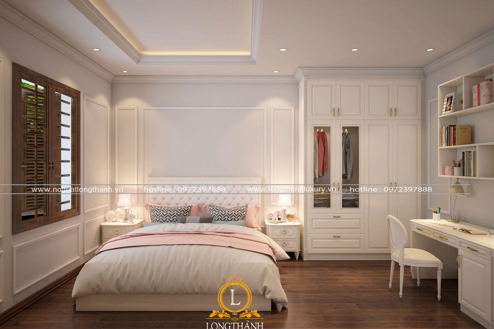 Phòng ngủ đẹp được thiết kế nhẹ nhàng