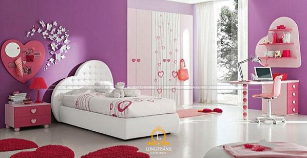 Phòng ngủ đẹp và ấn tượng cho bé gái