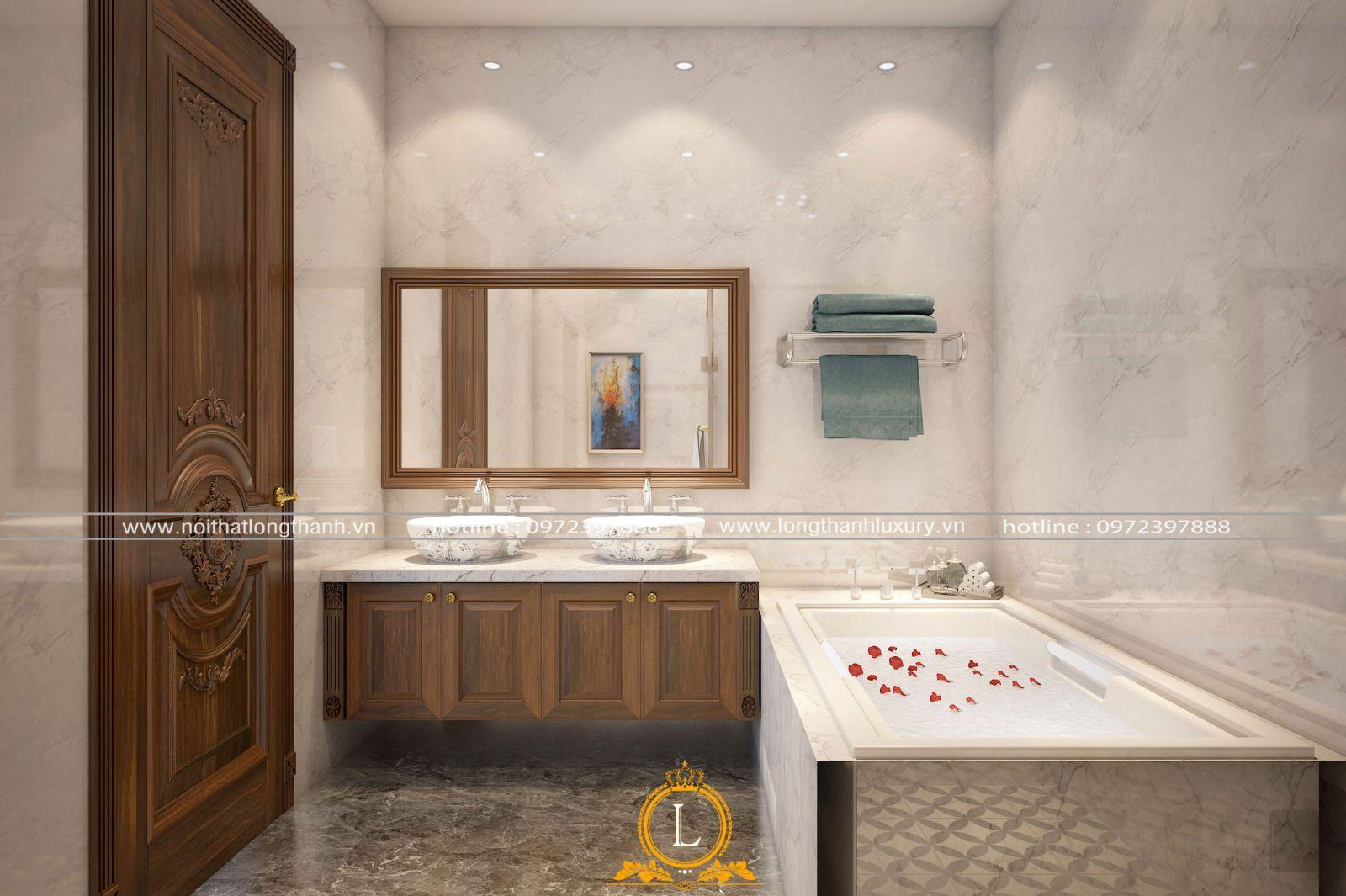 Phòng ngủ được bố trí nhà tắm khép kín