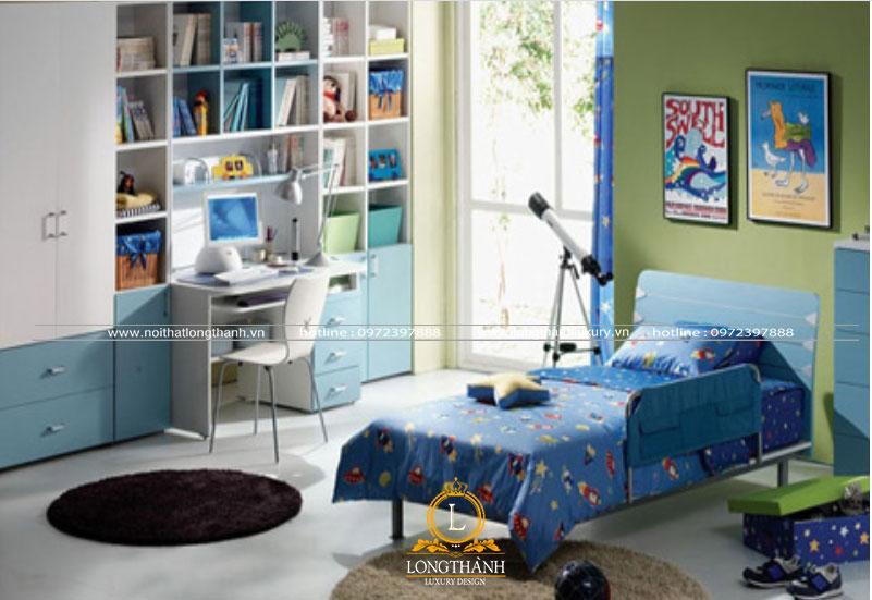 Phòng ngủ hiện đại cho bé trai thích khám phá