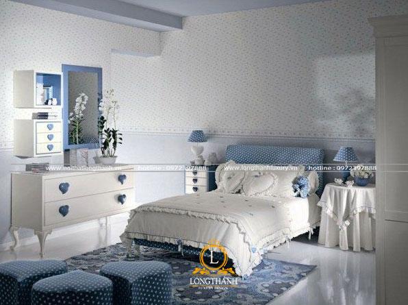 Phòng ngủ hiện đại đơn giản cho bé gái