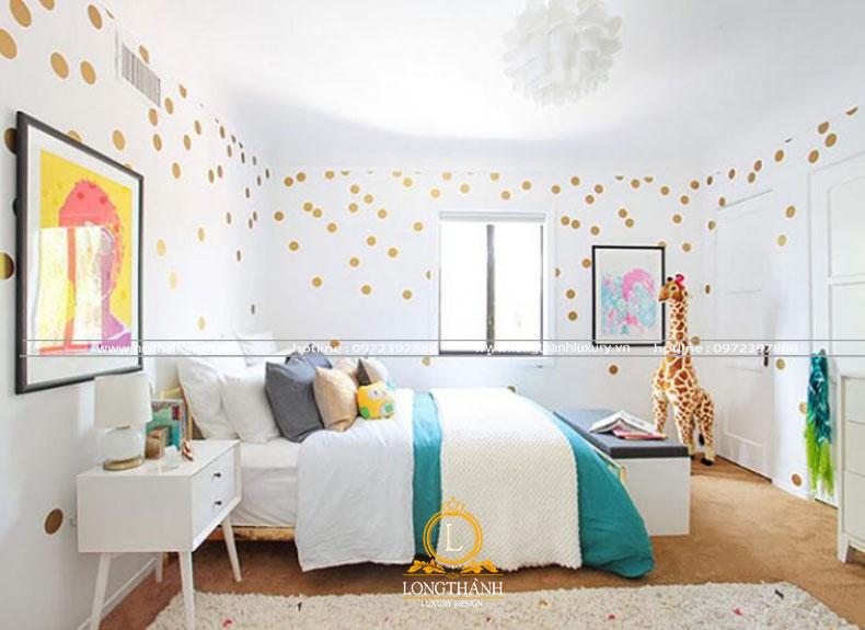 Phòng ngủ hiện đại đơn giản dễ thương