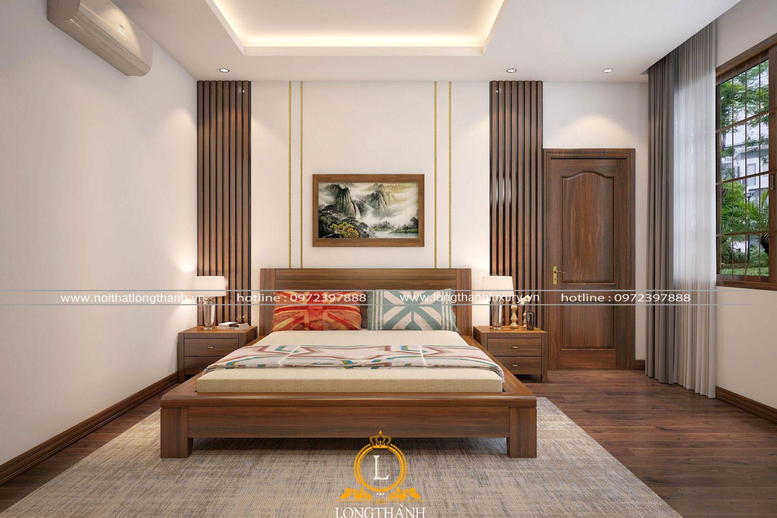 Phòng ngủ hiện đại đơn giản được thiết kế ngăn nắp
