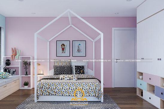 Phòng ngủ hiện đại hình ngôi nhà độc đáo cho bé