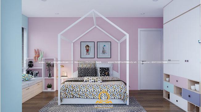 Phòng ngủ hiện đại với hình ngôi nhà độc đáo