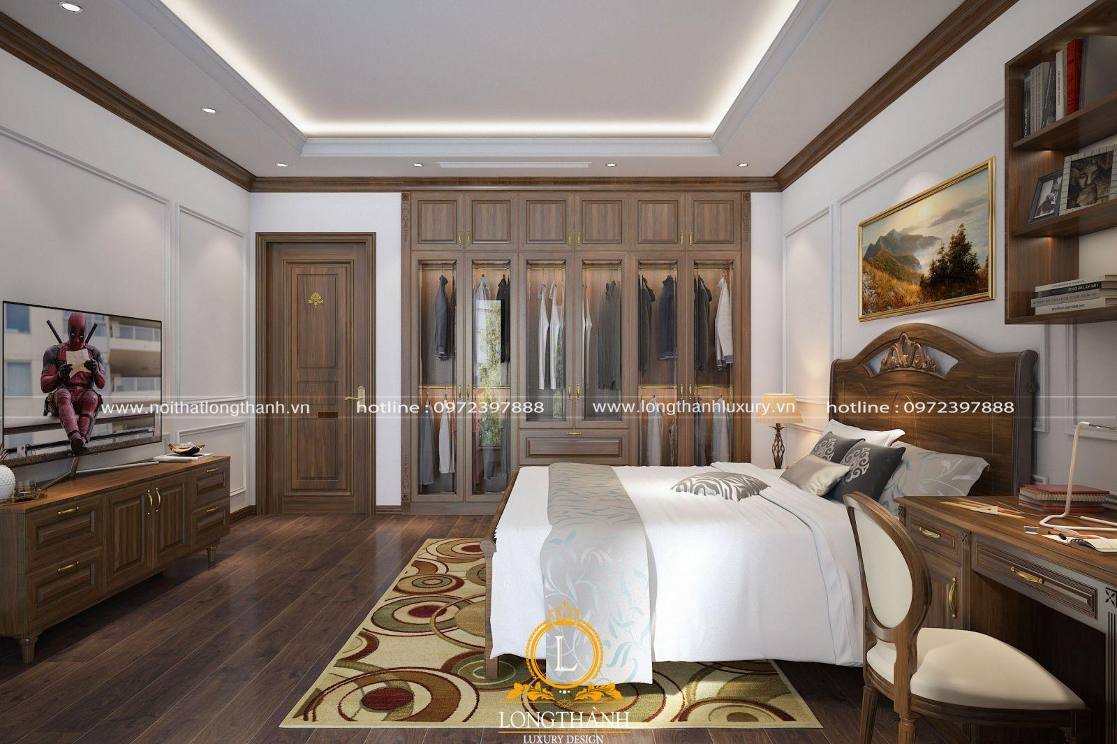 Phòng ngủ hiện đại tích hợp các nhu cầu thiết yếu