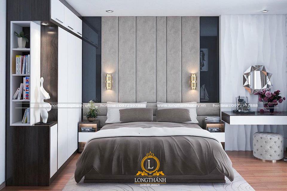 Phòng ngủ hiện đại màu đen trắng dành cho các quý cô