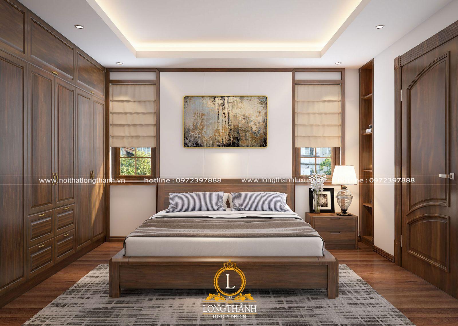 Căn phòng ngủ hiện đại vớicửa sổ thông thoáng đón ánh sáng tự nhiên