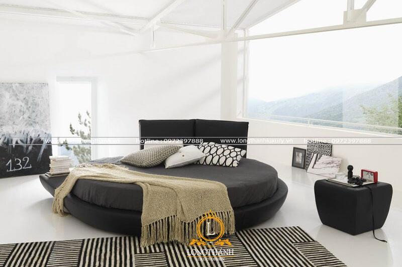 Không gian phòng ngủ thiết kế độc đáo với gam màu đen trắng hiện đại và trẻ trung
