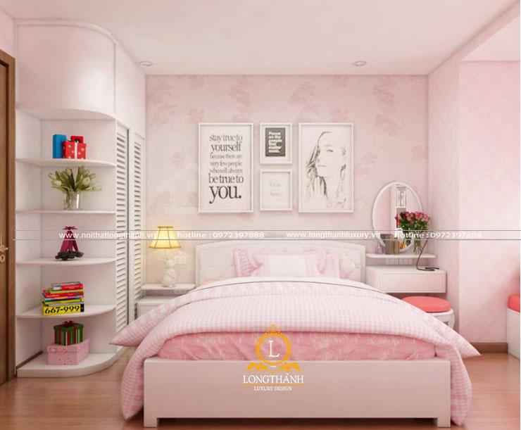 Phòng ngủ màu trắng đơn giản mà đẹp