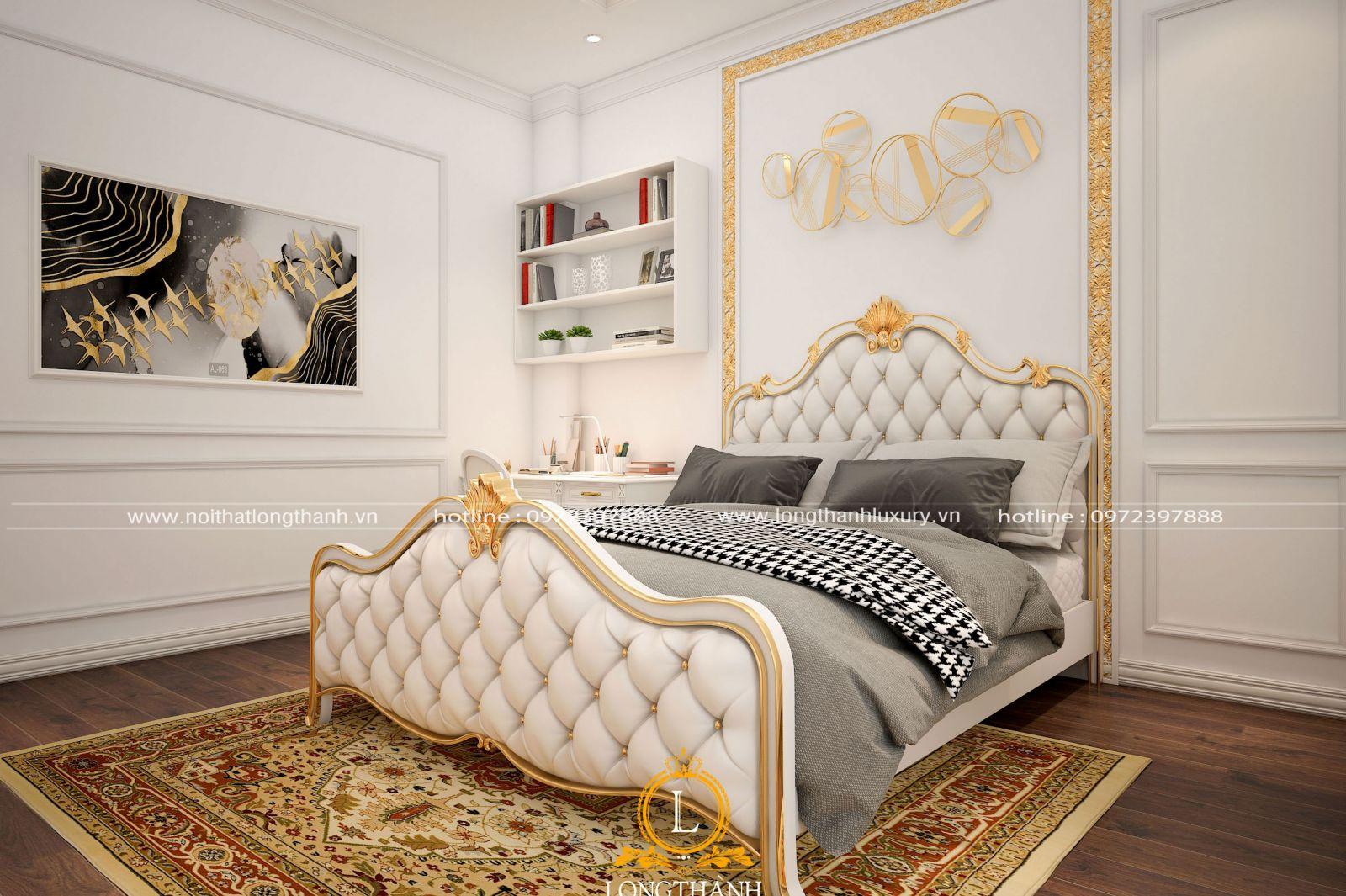 Phòng ngủ màu trắng đẹp