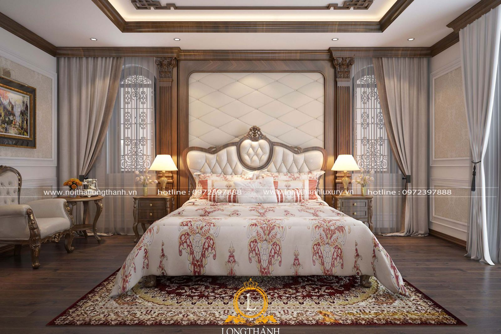 Phòng ngủ sang trọng mà tinh tế