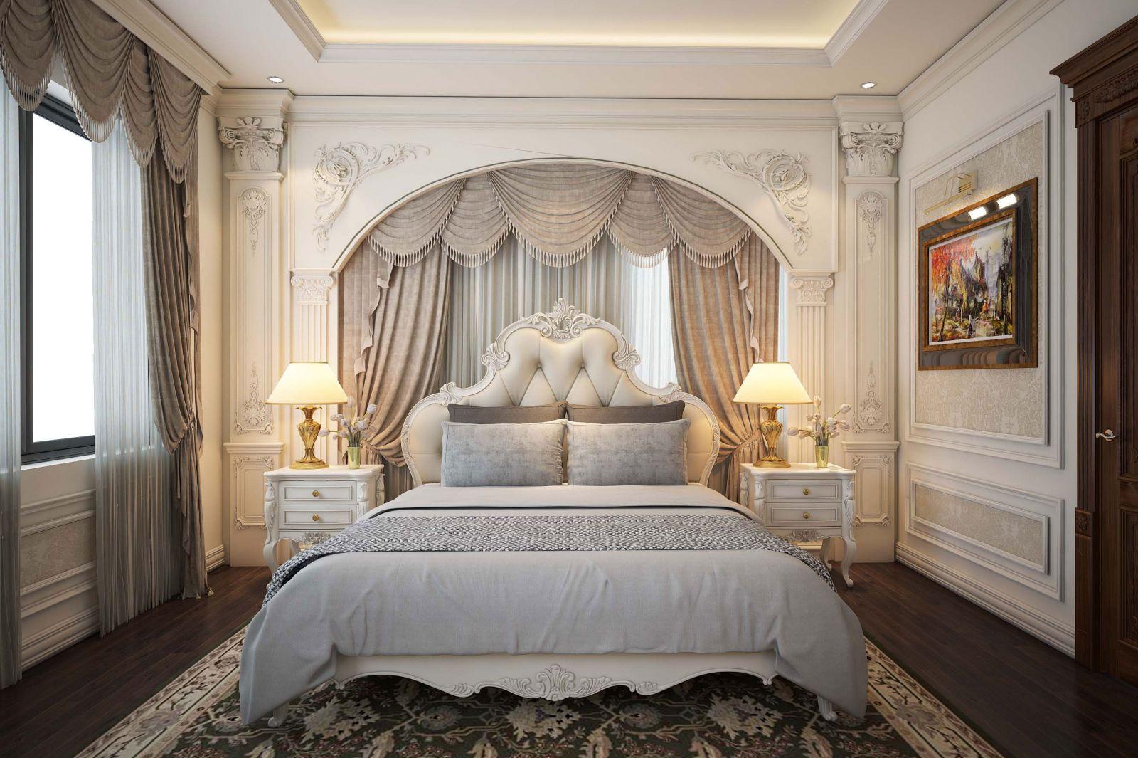 Phòng ngủ sang trọng tiện nghi