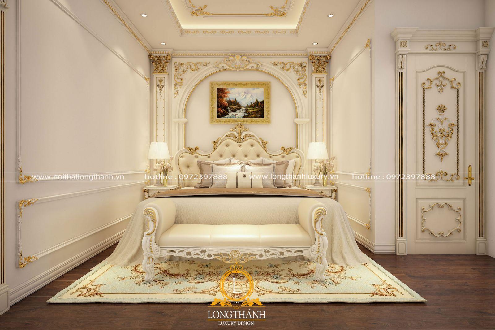 Nội thất phòng ngủ tân cổ điển nhà biệt thự đậm chất hoàng gia vương giả